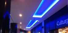 Puit de lumière LED bleu polygone de béziers