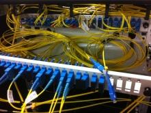 Passage de fibre optique