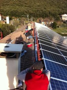 Thoiras PV solaire 50Kwc reprise charpente