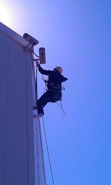 Travaux en hauteur sur corde Vidéosurveillance ERP